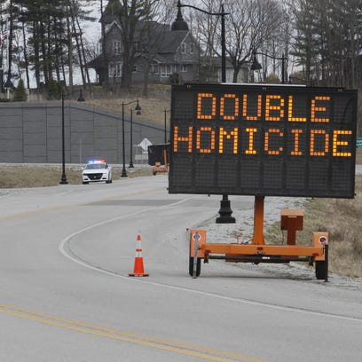 Indiana State Police set up a checkpoint east of Delphi