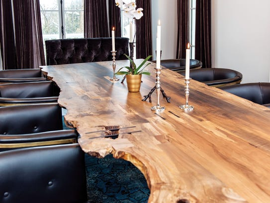 Dining room table created by Brooklyn-based artisan