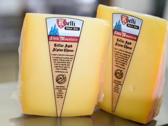 Selling at more than $22 per pound, packages of Little Mountain cheese are pictured at Roelli Cheese Haus.