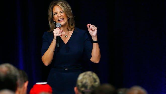 Senate candidate Kelli Ward in Scottsdale, Ariz., on Oct. 17, 2017.