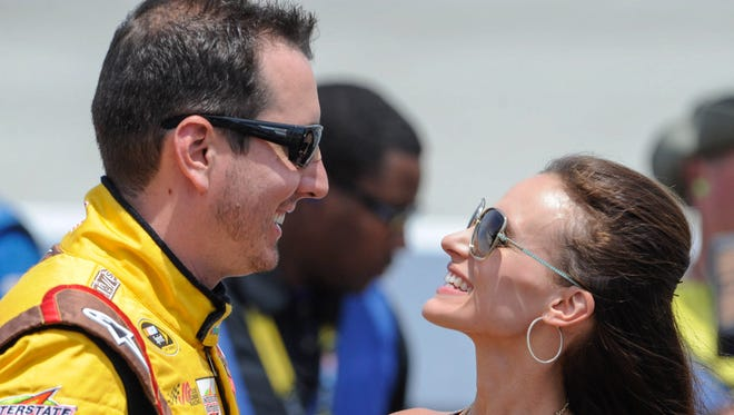 Kyle and Samantha Busch are expecting their first child - conceived via IVF - in May.