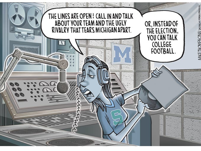 The state comes to a halt for the big game in Michigan