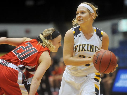 Augustana's Lynsey Prosser leads the team in assists.