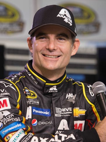 Jeff Gordon climbed out of his No. 24 car for the last