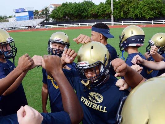 Holy Trinity Football Practice