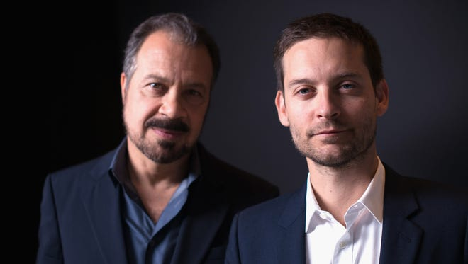 Ed Zwick and Tobey Maguire pose for a portrait during the 2014 Toronto International Film Festival.