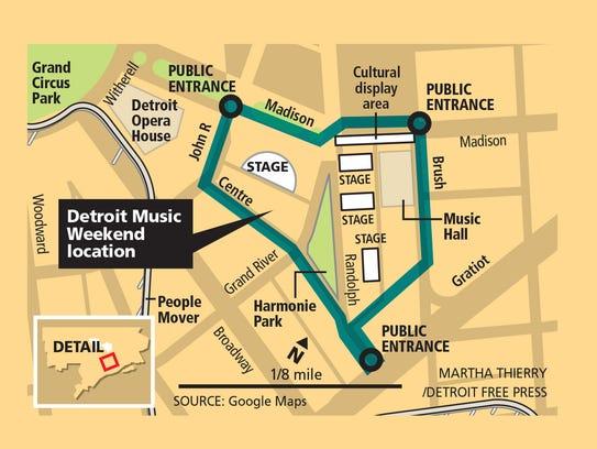 Detroit Music Weekend location