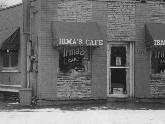 The exterior of Irma's Cafe on 26th Street, in Lousivile. Dec. 27, 1989