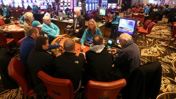 A picture from the first day of the del Lago Casino