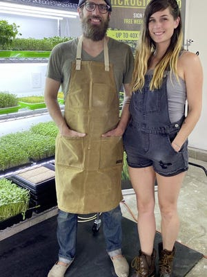 Nate and Whitney Lundquist launched their urban farm, MicroGiants, in March from their residence in Gahanna's Gramercy Park Estates neighborhood.