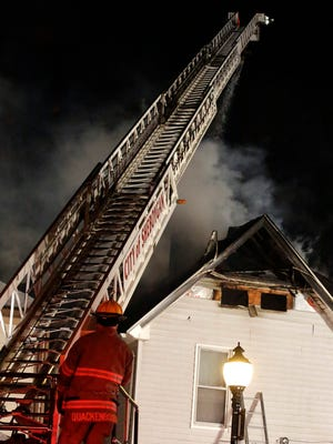 Sheboygan firefighters worked a house fire at 1427 Indiana Avenue Tuesday January 27, 2016 in Sheboygan.