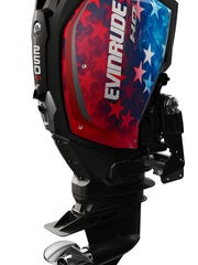 Evinrude E-TEC G2 outboards come with a wide ranging variety of custom color options for purchasers. See them at this year's Miami Boat Show Thursday through Monday.
