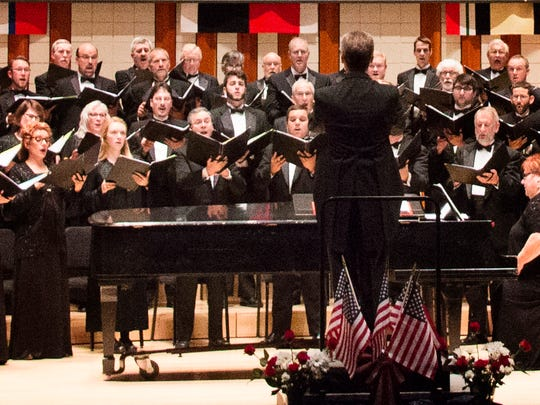 "Willamette Master Chorus performed its annual Veterans Concert in October. The chorus' holiday concert is Dec. 12-13 and features Vivaldi's ""Gloria."""