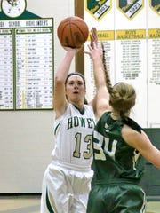 Howell's Rachel Nelson tries a jumper in the first