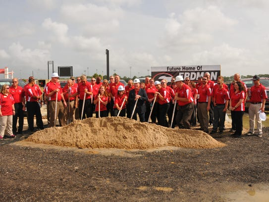 A groundbreaking ceremony was held Friday morning on