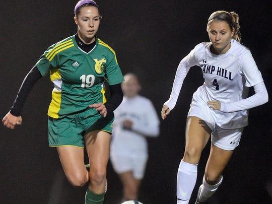 York Catholic's Eden Jahn , left, will play college