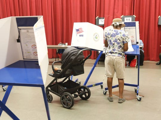 East Ramapo School District residents cast their votes in the school budget re-vote at Chestnut Ridge Middle School on Tuesday, June 19, 2018.