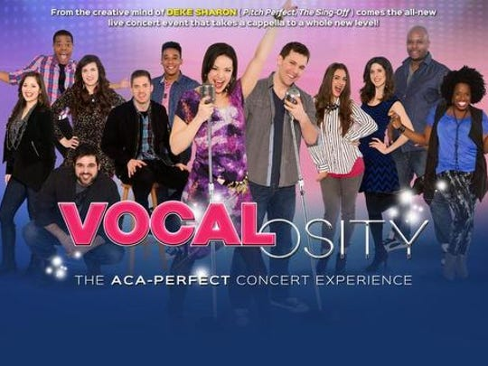 Vocalosity plays the Peace Center Feb. 25.