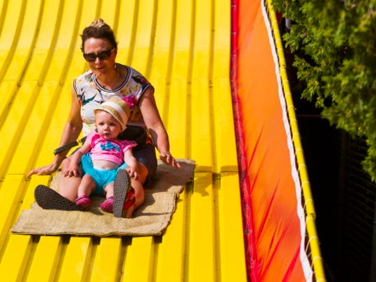 The Giant Slide is one of the most popular permanent attractions at the Wisconsin State Fair.