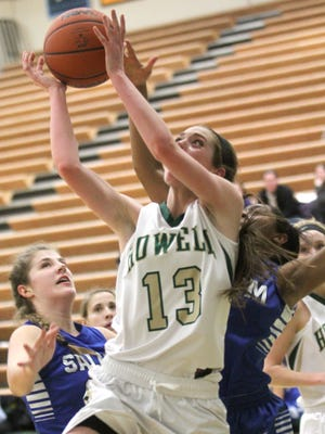 Howell's Rachel Nelson had 13 points for the Highlanders as they downed Lakeland 36-31 on Tuesday.