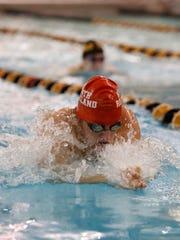 North Rockland's Matthew Zugibe swims the 100-yard