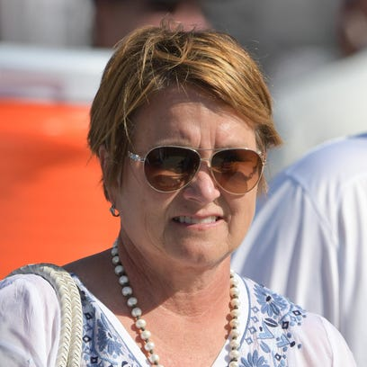 Titans owner Amy Adams Strunk before a game in August