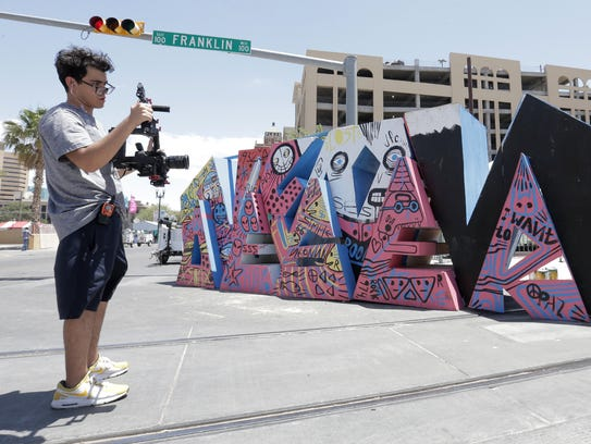Edison Rodriguez gets video of the famous Neon Desert