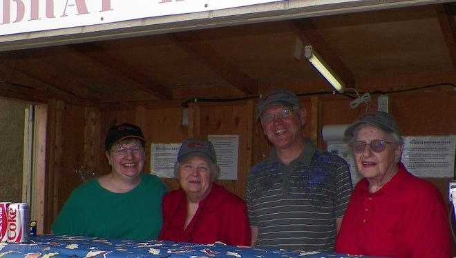 Mike McNamee and Matt Luczaj, Catholic Financial Life advisors in Marshfield and Wausau, recently helped host a brat fry with Catholic Financial Life Chapter 0309 in Marshfield. Pictured are Donna Schreiner (chapter secretary/treasurer), from left, Karen Kundinger (chapter president), Mike McNamee, and chapter member Lois Maurer.