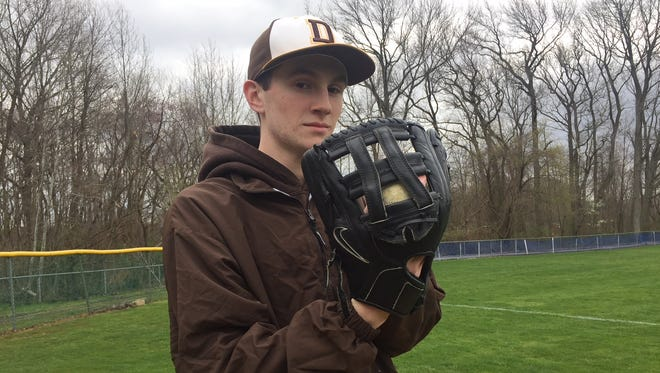 Delran senior pitcher Joe Mackell has tossed 11 scoreless innings this season.
