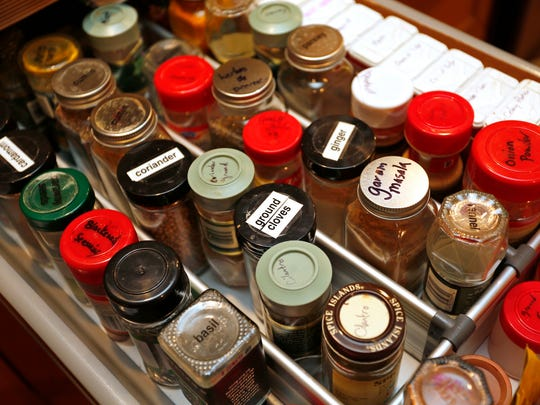The spice drawer in the kitchen Tuesday, January 10,