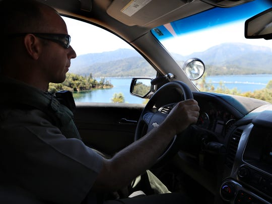 Acting Chief Ranger Dave Keltner does a patrol Tuesday