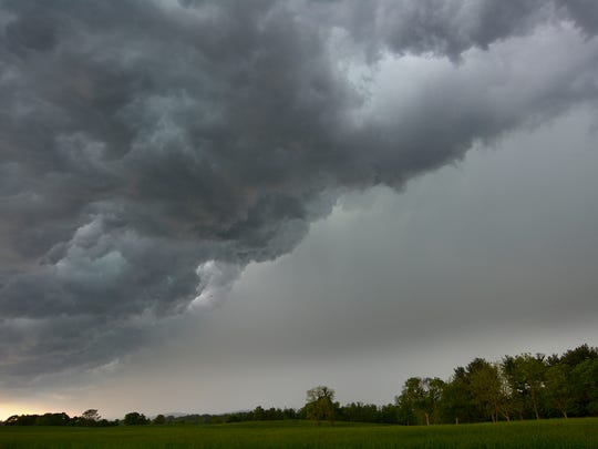 A severe thunderstorm that started with a tornado warning