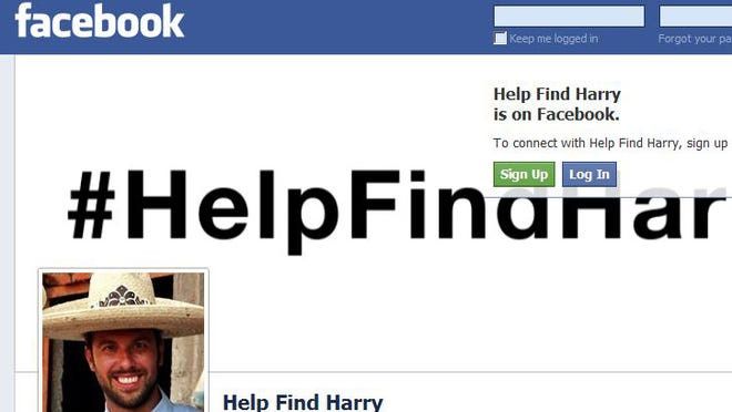 Friends and family created a Facebook page called Help Find Harry in an effort to located Harry Devert, who was traveling in Mexico on a motorcycle. He has not been heard from since Jan. 25.
