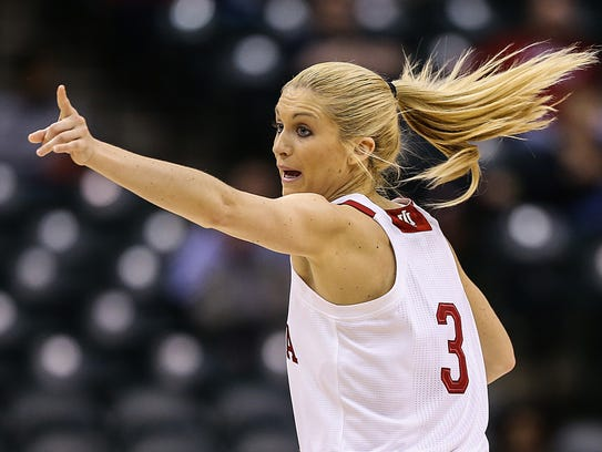 Hoosiers guard Tyra Buss became the first IU player