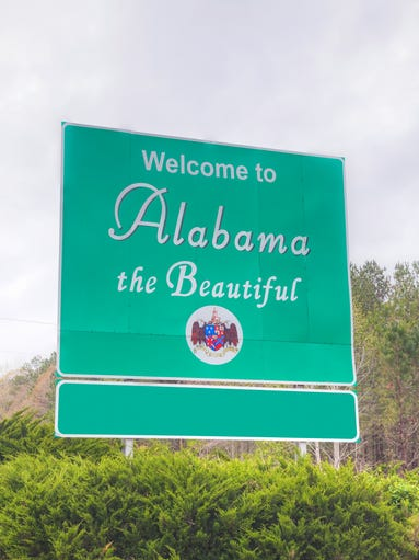 Alabama: Enjoy this welcome sign while you can because