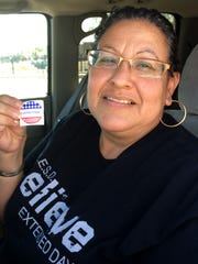 Veronica Cabrera of Avondale voted for the first time
