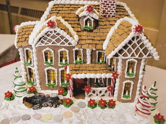 Milwaukee Area Technical College student Amanda Richardson's gingerbread house