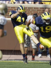 Michigan punter Zoltan Mesko in 2009.