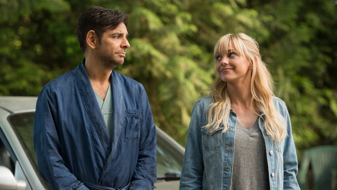 """A Mexican playboy with amnesia (left, Eugenio Derbez) goes on a misadventure with a woman (Anna Faris) hired to clean his yacht in the comedy """"Overboard"""" (May 4)."""