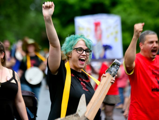 The Ithaca Festival Parade, Friday, June 1, 2018.