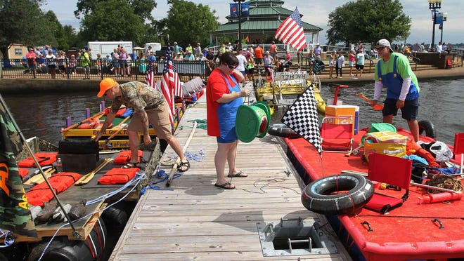 Highlights from The Great Trent River Raft Race at Union Point Park in New Bern, NC, June 22, 2019. The colorful spectacle features a kayak race and a homemade raft and boat race, all powered by non-motorized paddle or pedal on the Trent and Neuse River. The Great Trent River Raft Race event was canceled for 2020 due to safety concerns with COVID-19 restrictions.