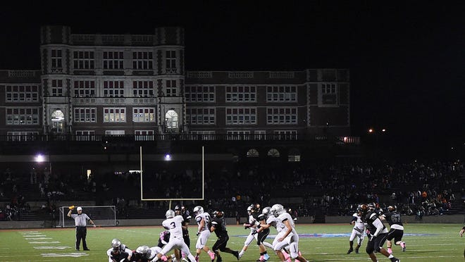 McDowell plays Cathedral Prep on Oct. 5, 2018, at Veterans Stadium.