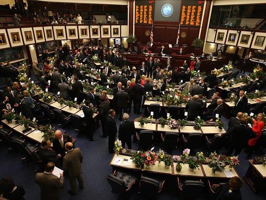 In the Senate chamber, legislators gets down to business