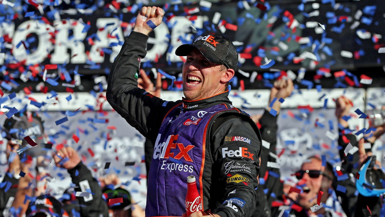 USA TODAY Sports' Jeff Gluck breaks down Denny Hamlin's bold late pass and subsequent victory in the Great American Race.