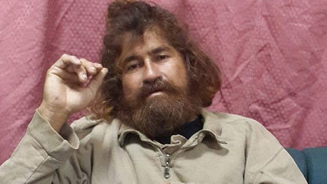 Jose Salvador Alvarenga sits on a couch in Majuro in the Marshall Islands on Monday.