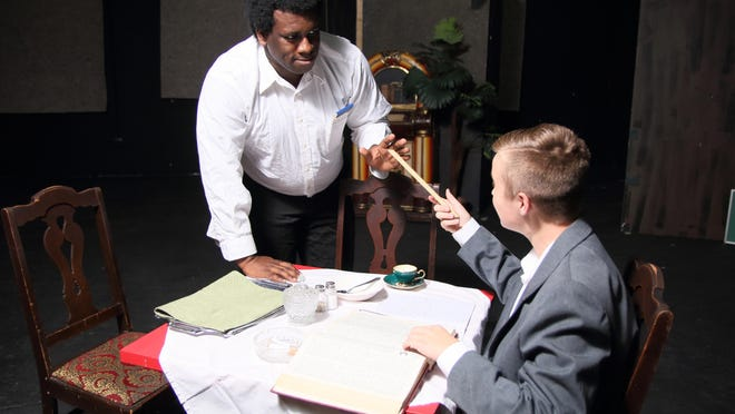 """Ndegwa McCloud, left, and Ayden Soupal in Riverwalk's """"Master Harold and the Boys,"""" which runs Sept. 28-Oct. 8."""