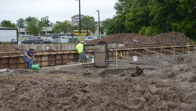 Construction is under way in the 2600 block of South Oneida Street, where Midwest Expansion is building two retail buildings.  Potbelly Sandwich Shop will be a tenant.