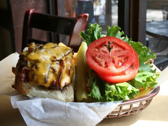 The Peanut Barrel's rodeo burger is a customer favorite.