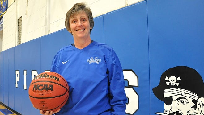 Rockland Hall of Fame inductee Lorraine Guerci Moylan, who coached Albertus Magus and Pearl River girls basketball to a combined 536 wins.