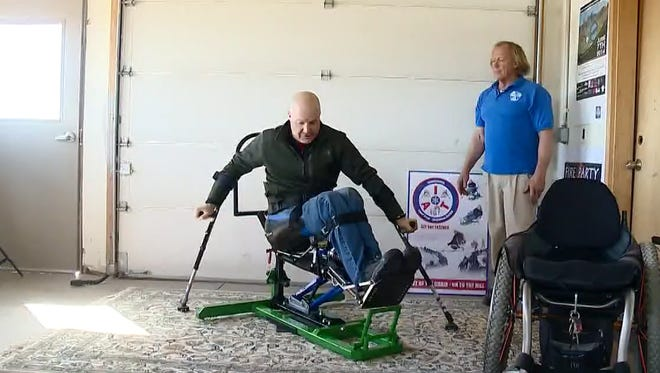 The inventor of the Sit Ski Trainer hopes it will help people with disabilities learn to mono-ski and get back on the slopes faster.